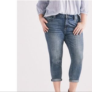 NWT Lucky Brand Reese Boyfriend Cropped Jeans